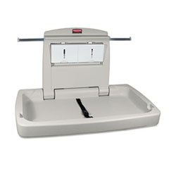 Rubbermaid  Commercialsturdy Station 2 Baby Changing Table, 33.5 X 21.5, Platinum