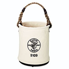 Wide-Opening Straight-Wall Canvas Bucket, 15in Height, 12in Diameter