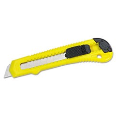 Snap-Off Retractable Pocket Utility Knife, Plastic, Yellow/Black, 30/Carton