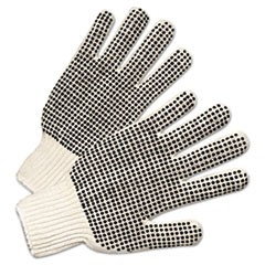 Regular-Weight PVC-Dot String-Knit Gloves, Men's