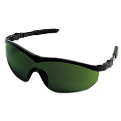 Storm Safety Glasses, Black Frame, Green 3.0 Lens, Nylon/Polycarbonate