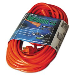 Vinyl Outdoor Extension Cord, 50ft, 13 Amp, Orange