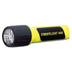 ProPolymer LED Flashlight, 4 AA Batteries (Included), Yellow/Black