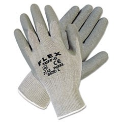 FlexTuff Latex Dipped Gloves, Gray, Large, 12 Pairs