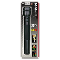 LED Flashlight, 3 D Batteries (Sold Separately), Black
