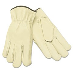 Unlined Driver's Gloves, Small, Straight Thumb, Grain Leather