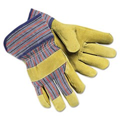 Grain-Leather-Palm Gloves, Large