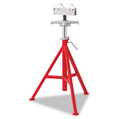 "RJ-99 High Pipe Stand, 32"" to 55"" High, Red"