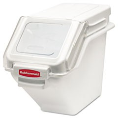 ProSave Shelf Ingredient Bins, 5.4gal, 11 1/2w x 23 1/2d x 16 7/8h, White