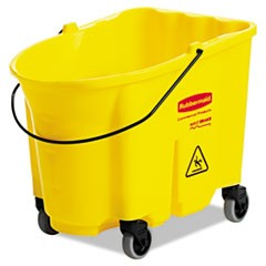 BUCKET,WB,35QT,CASTER,YL