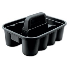 Rubbermaid  Commercialdeluxe Carry Caddy, 8-Compartment, 15W X 7.4H, Black