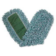 Dust Mop Heads, 36 in., Looped End, Microfiber, 12/Carton