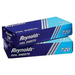 Pop-Up Interfolded Aluminum Foil Sheets, 12 x 10 3/4, Silver, 200/Box