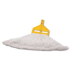 Finish Mop Heads, Nylon, White, Large