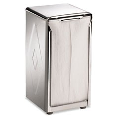 Tabletop Napkin Dispenser, Tall Fold, 3 3/4 x 4 x 7 1/2, Capacity: 150, Chrome