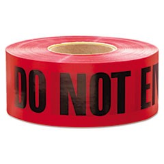 "1,000 ft. x 3 in. ""Danger Do Not Enter"" Barricade Tape (Red)"