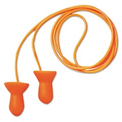 Quiet Multiple-Use Earplugs, Corded, 26NRR, Orange/Blue, 100 Pairs