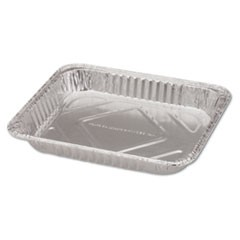 "Steam Table Aluminum Pan, Half-Size, 1 11/16"" Shallow, 100/Carton"