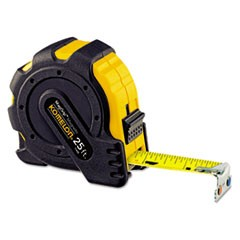 "MagGrip Tape Measure, 1"" x 25ft, Metal Case, Black/Yellow, 1/16"" Graduation"
