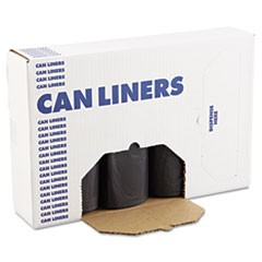 SH-Grade Can Liners, 40 x 46, 40-45gal, 1.2mil, Black, 10 Bags/Roll, 10 Rolls/CT