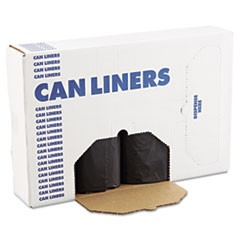 SH-Grade Can Liners, 43 x 47, 56gal, 1.2mil, Black, 10 Bags/Roll, 10 Rolls/CT