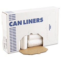 High-Density Can Liner, 43 x 47, 56gal, 14 Mic, Natural, 25 Bags/RL, 8 Rolls/CT