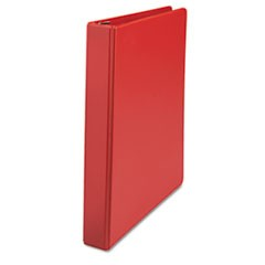 "D-Ring Binder, 1"" Capacity, 8-1/2 x 11, Red"