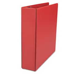 "D-Ring Binder, 2"" Capacity, 8-1/2 x 11, Red"