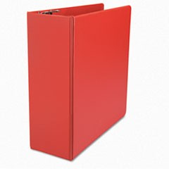 "D-Ring Binder, 4"" Capacity, 8-1/2 x 11, Red"