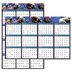 Earthscapes Sea Life Scenes Reversible/Erasable Wall Calendar, 24 x 37, 2016