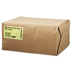 #20 Squat Paper Grocery Bag, 40lb Kraft, Std 8 1/4 x 5 5/16 x 13 3/8, 1000 bags