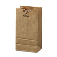 #2 Paper Grocery, 52lb Kraft, Extra-Heavy-Duty 4 5/16 x 2 7/16 x16 7/8, 500 bags