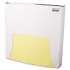 Grease-Resistant Paper Wraps and Liners, 12 x 12, Yellow, 1000/Box, 5 Boxes/Carton