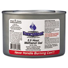 Methanol Gel Chafing Fuel Can, 2 1/2hr Burn, 7oz, 72/Carton