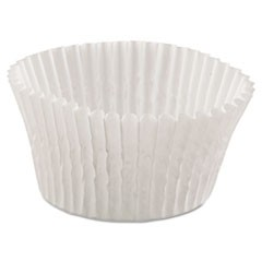 Fluted Bake Cups, 4 1/2 dia x 1 1/4h, White, 500/Pack, 20 Pack/Carton