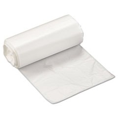High-Density Can Liner, 17 x 18, 4gal, 6 Micron, Clear, 50/Roll, 40 Rolls/Carton
