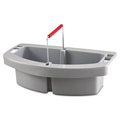 Rubbermaid  Commercialmaid Caddy, 2-Compartment, 16W X 9D X 5H, Gray