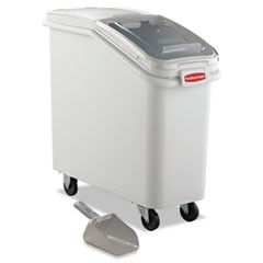 ProSave Mobile Ingredient Bin, 20.57gal, 13 1/8w x 29 1/4d x 28h, White