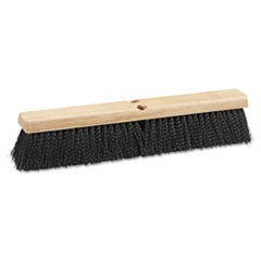 "BROOM,18""PLSTC BRSTLE, BK"