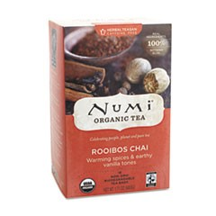 Organic Teas and Teasans, 1.71oz, Rooibos Chai, 18/Box