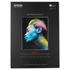 Hot Press Bright Fine Art Paper, 17 mil, 13 x 19, Smooth Matte White, 25/Pack