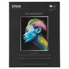 Hot Press Bright Fine Art Paper, 8-1/2 x 11, Bright White, 25 Sheets