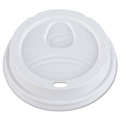 Dome Drink-Thru Lids, Fits 12-16oz Paper Hot Cups, White, 1000/Carton