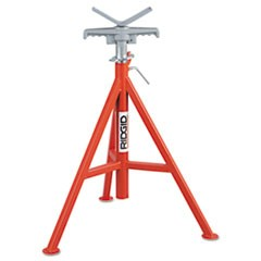 "V Head Pipe Stand, Up to 12"" Pipe Capacity, Red"
