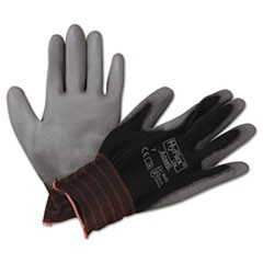 HyFlex Lite Gloves, Black/Gray, Size 7, 12 Pairs