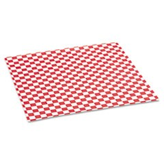 Grease-Resistant Paper Wraps and Liners, 12 x 12, Red Check, 1000/Box, 5 Boxes/Carton