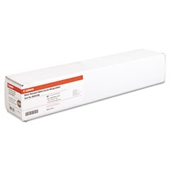 "Water Resistant Matte Canvas Paper Roll, 24 mil, 24"" x 40 ft, Matte White"
