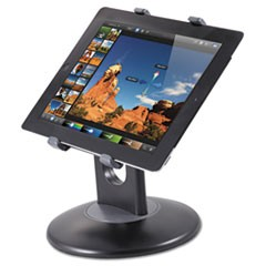 Kantekstand For 7  To 10  Tablets, Swivel Base, Plastic, Black