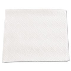 "Beverage Napkins, 1-Ply, 9.5"" x 9"", White, 4000/Carton"