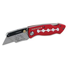 Sheffield Lockback Knife, 1 Utility Blade, Red